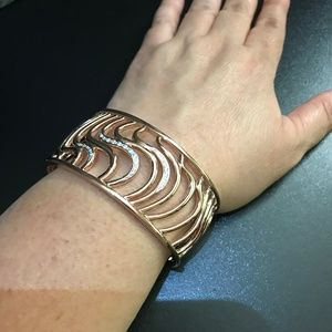 PRE OWNED BREUNING Wavy Cutout Cuff Bracelet